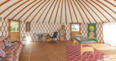 Meditation workshops in our healing yurt